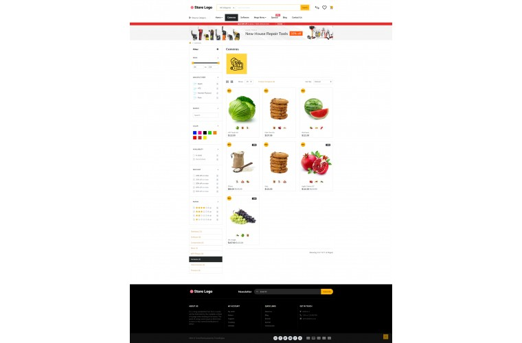 Journal Grocery Provisions Advanced Opencart Theme