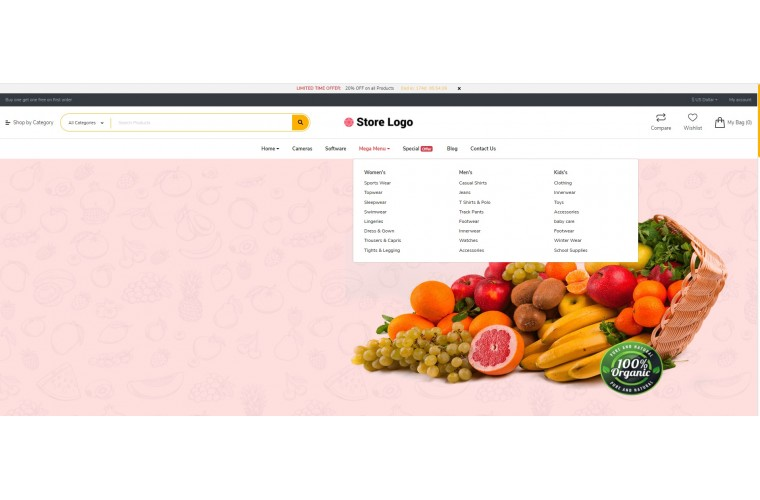 Fastor Grocery Advanced Opencart Theme