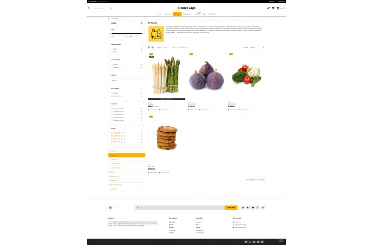 Sellegance Grocery Responsive and Clean OpenCart Theme