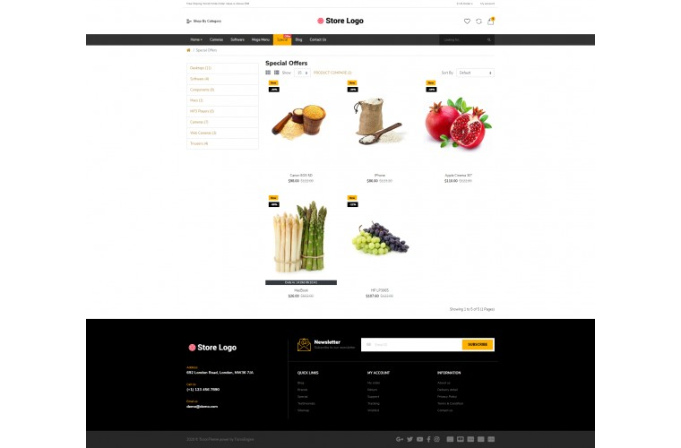 Grocery Market Shop - Multi-Purpose OpenCart Theme
