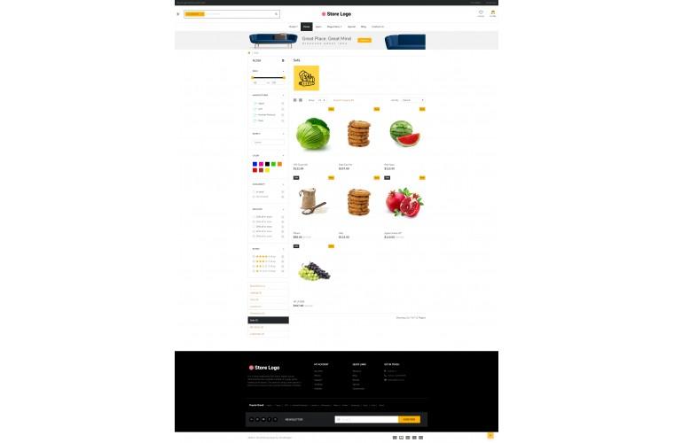Grocery eMarket - Multipurpose MarketPlace OpenCart 3 Theme