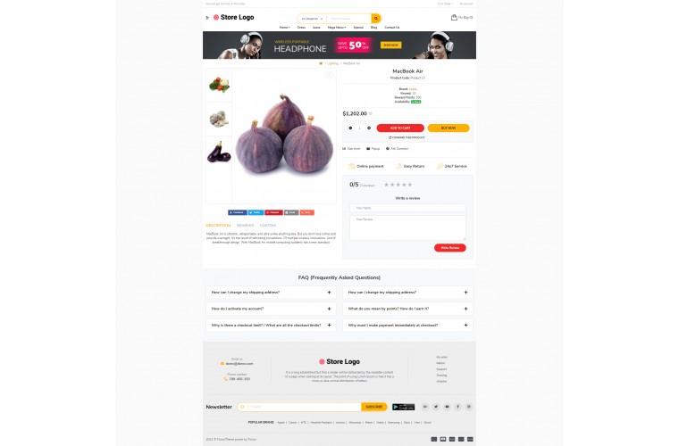 Sellya Provisions Multi-Purpose Responsive OpenCart Theme