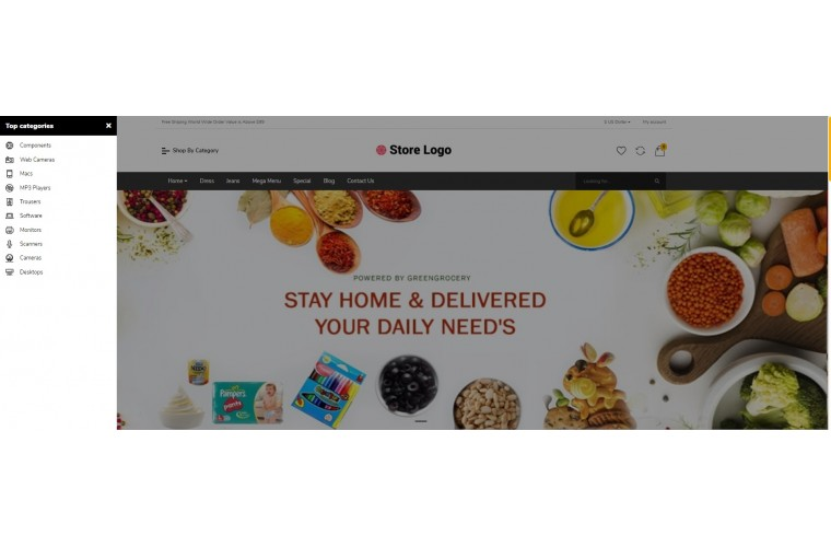 Grocery Bigshop Advanced Responsive OpenCart Theme