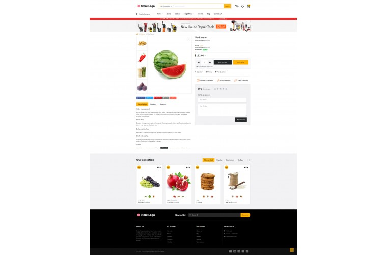 Grocery Market Shop - Advanced OpenCart Theme