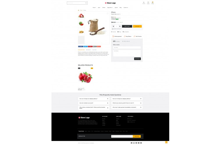 Next Provisions Shop - Responsive OpenCart theme