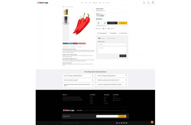Provisions store Advanced opencart theme
