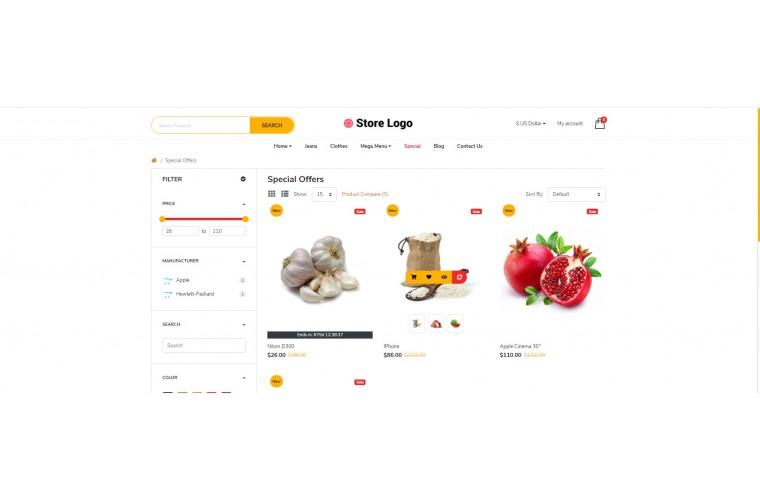 My Grocery Advanced multi-purpose opencart theme