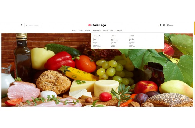 Fast Grocery Advanced Opencart theme