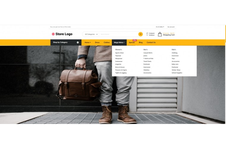 Grand Clothing Opencart fully responsive theme