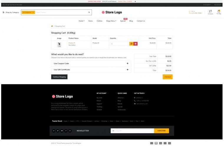 NUVO - Clothing & Apparel Opencart 3 Multipurpose theme