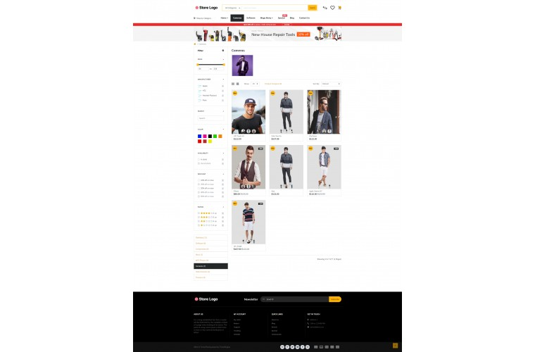 Journal Clothing Apparel Advanced Opencart Theme