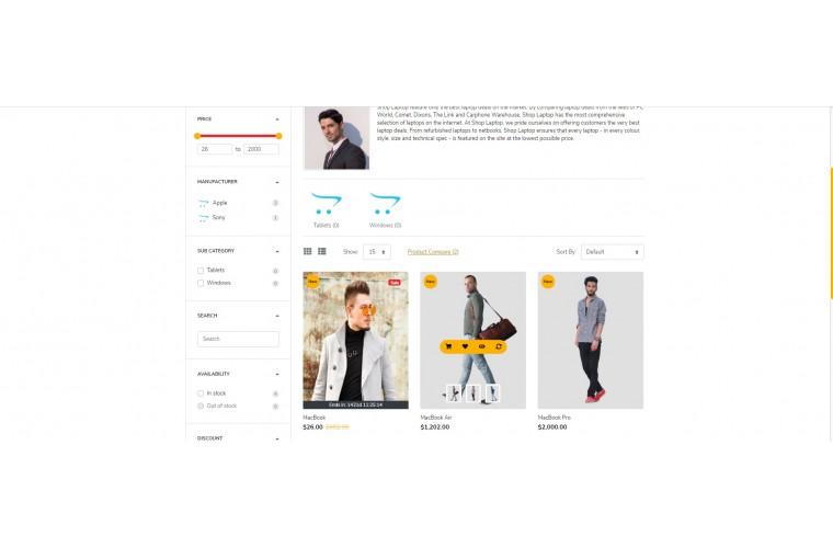 Fastor Clothing Advanced Opencart Theme