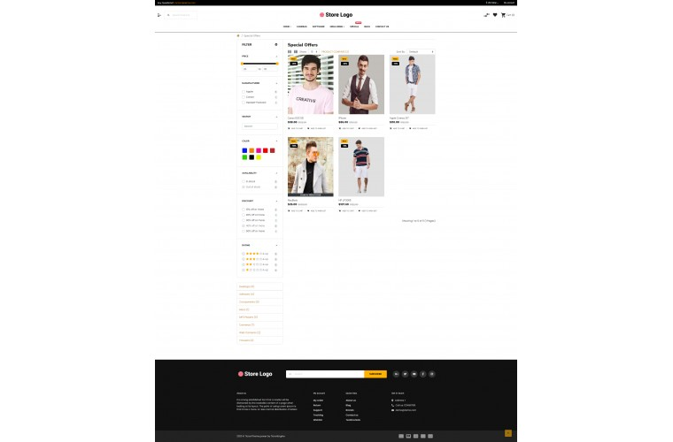Sellegance Clothing Responsive and Clean OpenCart Theme