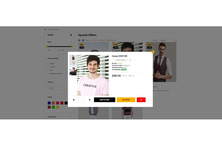 2021 Clothing Light and fast OpenCart Theme