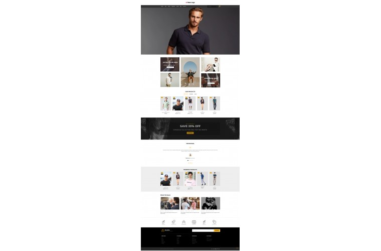 Clothing Pro Clean responsive OpenCart Theme