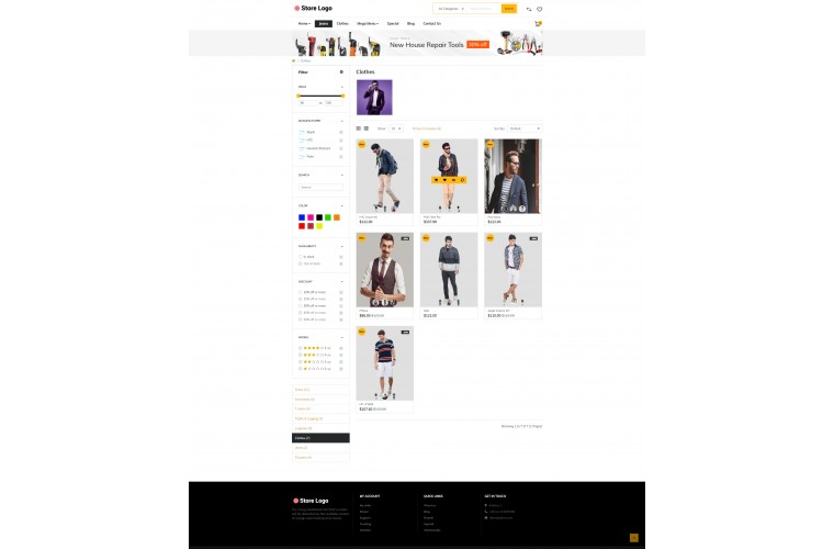 Faster Apparel Pro Opencart theme
