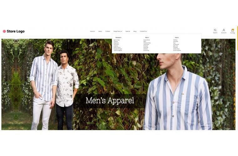 Apparel store Advanced opencart theme