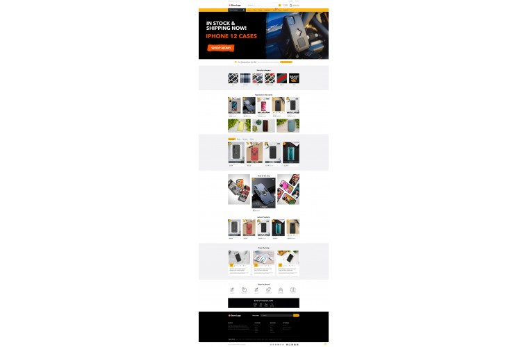 Grand Mobile case Opencart fully responsive theme