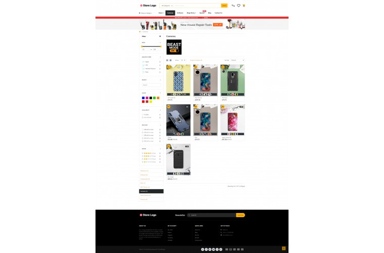 Journal Mobile case Cover Advanced Opencart Theme