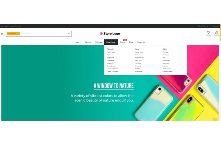 Shopica Mobile case Advanced Opencart Theme