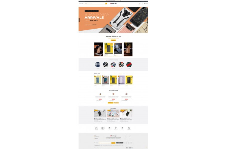 Sellegance Mobile case Responsive and Clean OpenCart Theme