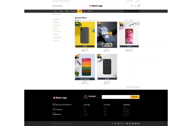 Mobile case Market Shop - Multi-Purpose OpenCart Theme