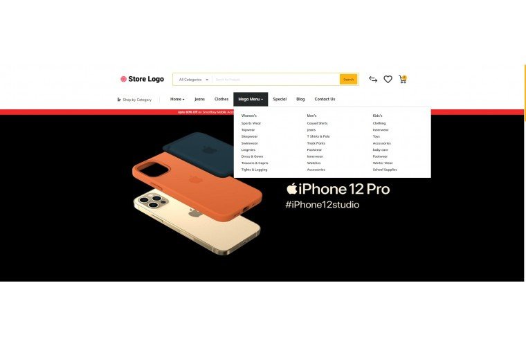 Mobile case Market Shop - Advanced OpenCart Theme
