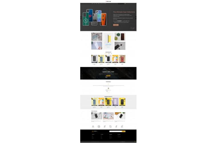 Mobile case Pro Clean responsive OpenCart Theme