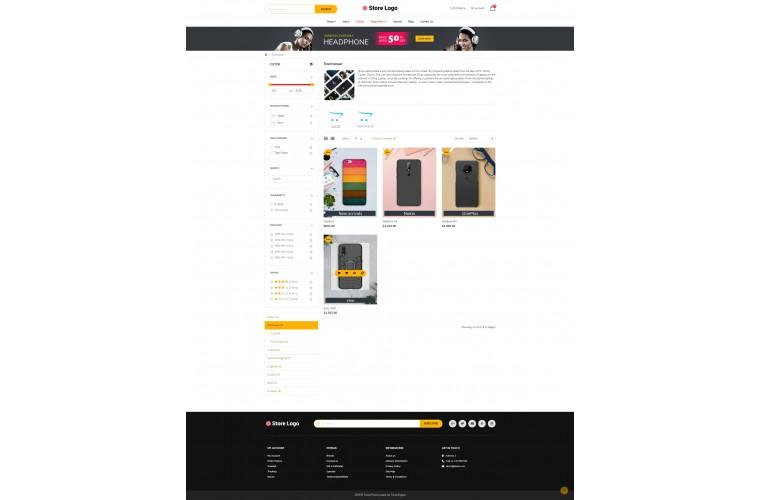 My Mobile case Advanced multi-purpose opencart theme