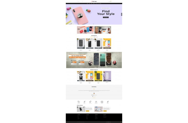 Light Cover Mobile case Premium Opencart theme