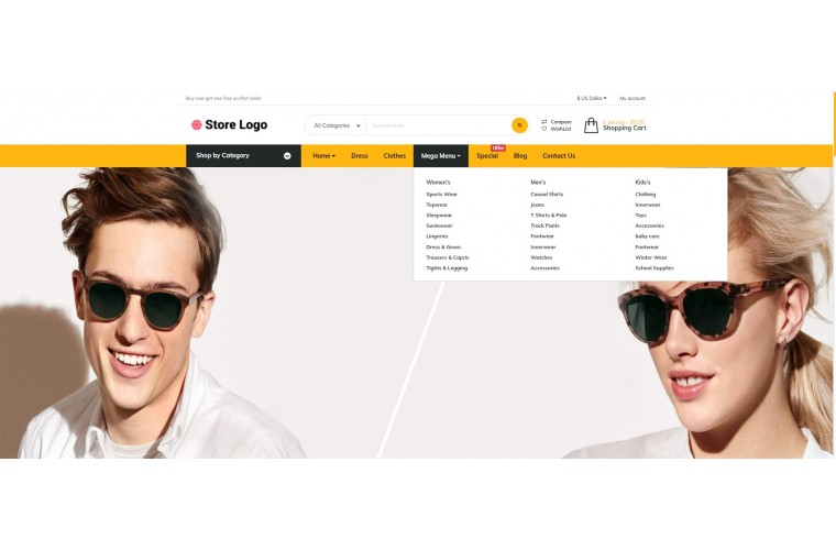 Grand Optical Opencart fully responsive theme