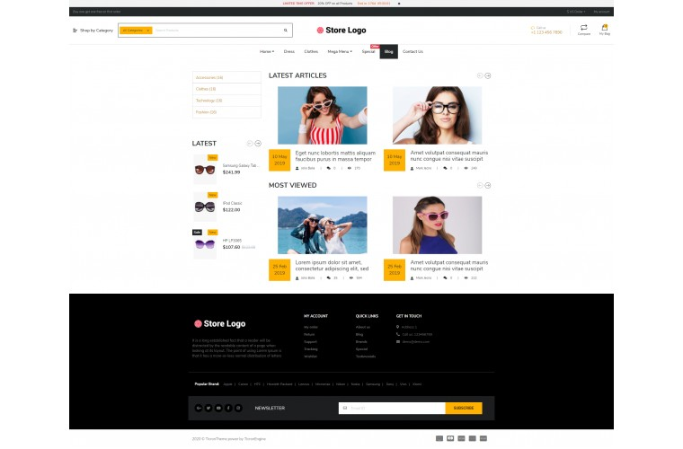 NUVO - Optical & Spects Opencart 3 Multipurpose theme