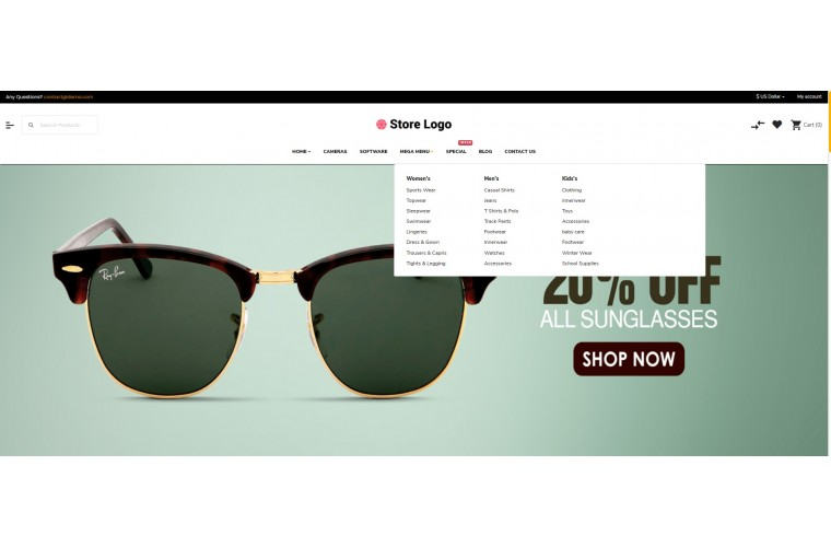 Sellegance Optical Responsive and Clean OpenCart Theme