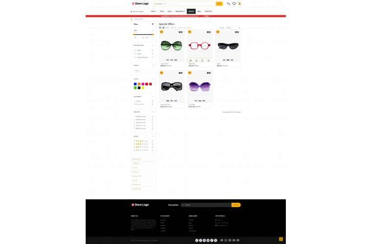 Rzen Optical - Multi-Purpose OpenCart Theme