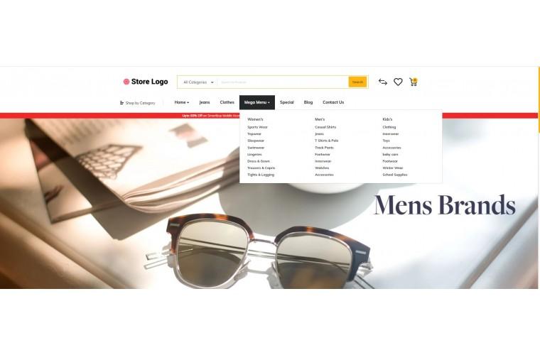 Optical Market Shop - Advanced OpenCart Theme