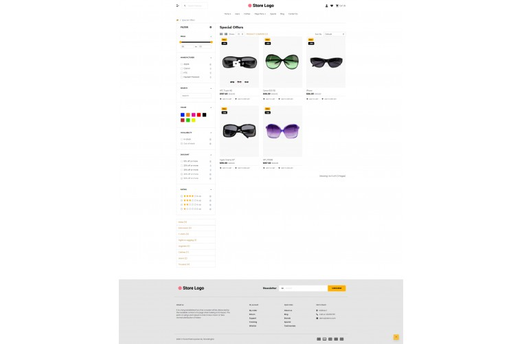 2021 Optical Light and fast OpenCart Theme
