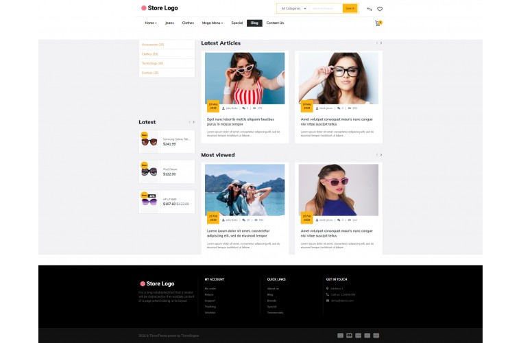 Faster Spects Pro Opencart theme