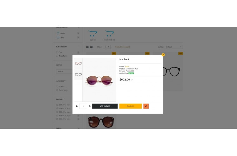 Spects store Advanced opencart theme